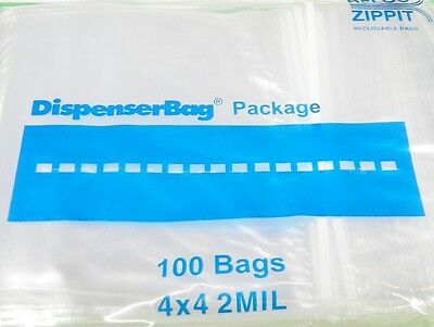 "1000 ZIPLOCK BAGS 4x4 SQUARE RECLOSABLE CLEAR Zip Lock 2MIL 4 x 4"" RELOC ZIPPIT"