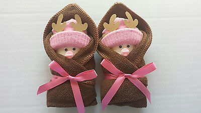 Deer Hunting Little Swaddlers Diaper Baby Girl Shower  Favors