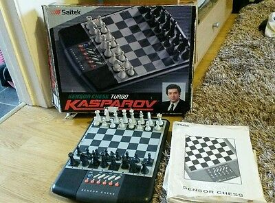 Saitek Sensor Chess Turbo Kasparov, Electronic Game Boxed & Complete 1991