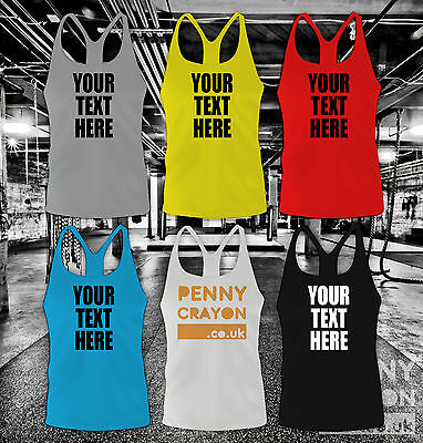 Personalised Custom Printed Stringer Vest