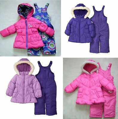 OshKosh Carter's Infant Girl 2PC Blue Red Pink Purple Snowsuit 12M 18M 2T 3T NWT