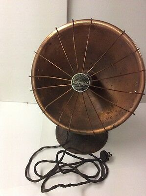 Vintage Redstreak Copper Heater Heat Dome Cast Iron Base Works industrial