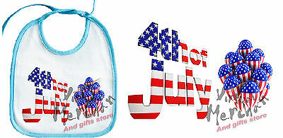 BABERO AZUL USA 4 JULY INDEPENDENCE DAY baby bib es