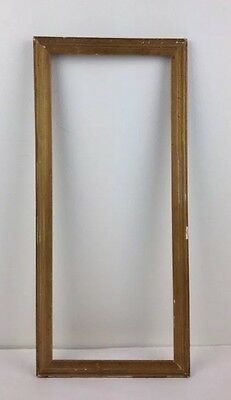 Early 1900's 7x17 Wood & Gesso Gold Gilt Picture Frame w orig glass Antique