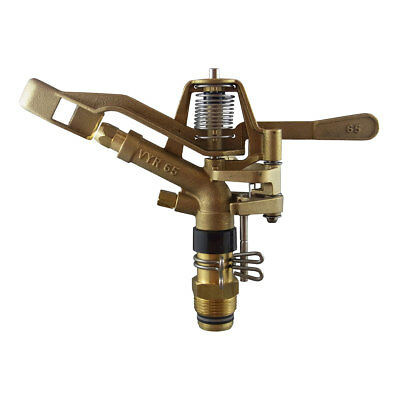 VYRSA 65 Brass Impact Sprinkler Part Circle 25mm Male Double Nozzle