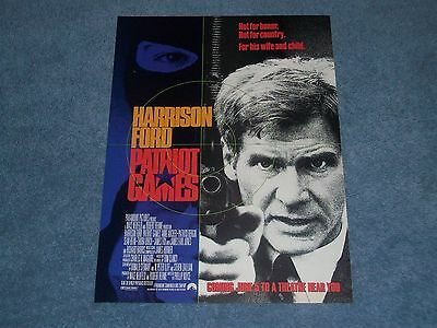 Patriot Games with Harrison Ford 1992 Movie Ad Flyer