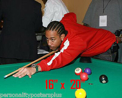 "Ludacris~Color~Playing Pool~Shooting Pool~Billiards~Poster~16"" x 20"" Photo"