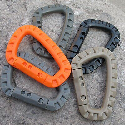 1PCS D-Ring Military EDC Carabiner Backpack Hook Snap Outdoor Tactical Keychain