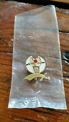 Shriners Moon Sword Star Vintage Hat Pin Label/Tie Tack Neckless Charm
