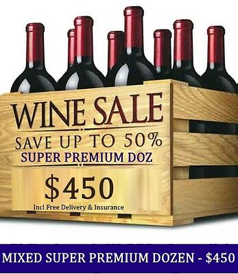 Huge Wine Clearance – Super Premium Mystery Red Mixed Dozen, $450.00