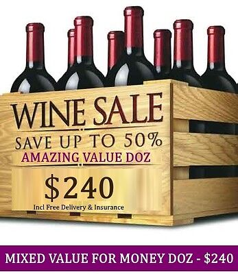 Huge Wine Clearance – Amazing Value Mystery Red Mixed Dozen, $240.00