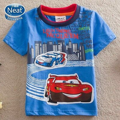 Lightning McQueen, Boys T-Shirt, Cotton, Sizes 2 - 6
