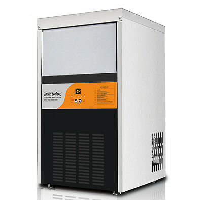 Commercial Ice Maker Auto Clear Cube Ice Making Machine 60kg/24h 220V
