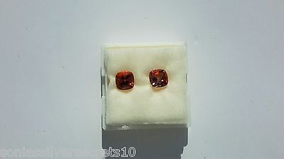 Pair Azotic Topaz Cushion Cut Loose Gemstones Mystic Rainbow Effect 5.5 cts