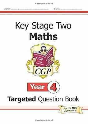 KS2 Maths Targeted Question Book - Year 4 for t by Cgp Books New Paperback Book