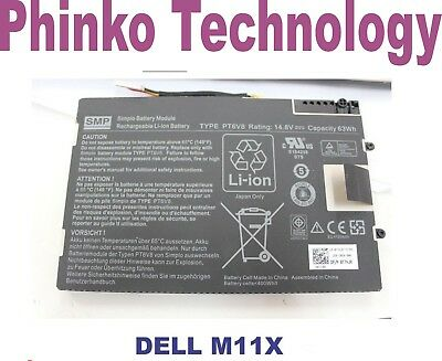 NEW Original Genuine Battery Dell Alienware M11x M14X R1 R2 R3 PT6V8 T7YJR