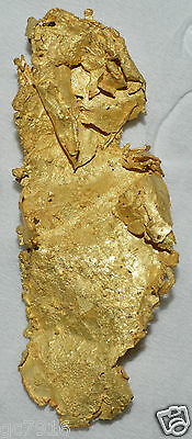 GOLD NUGGET AWESOME NATURAL LEAF CRYSTAL 2.630 grams GEORGETOWN QLD Australia