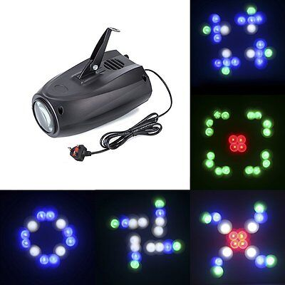 Music Active RGBW LED Lights Laser Effect Stage Lighting Club Disco DJ Party Bar