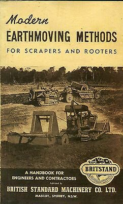 Modern Earthmoving Methods For Scrapers and Rooters (Britstand) 1958