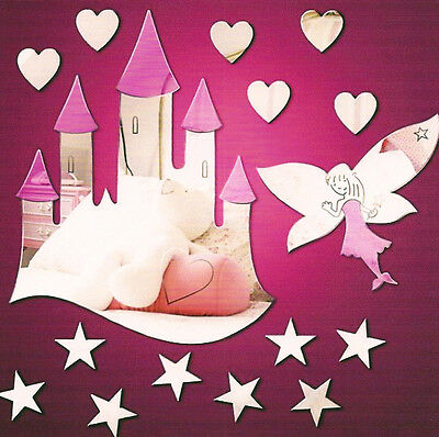 Magical Fairytale Themed Mirror Pack  Castle Stars Funky Fairy and Hearts