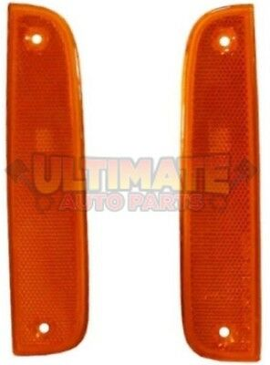 Front Side Marker Light Lamps Pair RH LH for 97-01 Jeep Cherokee XJ
