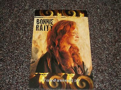 Bonnie Raitt 1988 postcard Fundamental