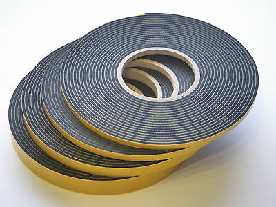 3mm Double Sided Adhesive Glazing Security Foam Tape 8mts (Black)