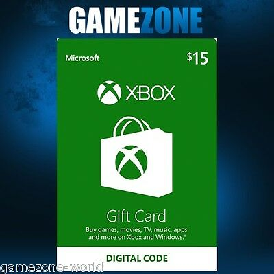 Xbox Live $15 USA Gift Card Points USD Dollars For Microsoft Xbox 360 / Xbox One