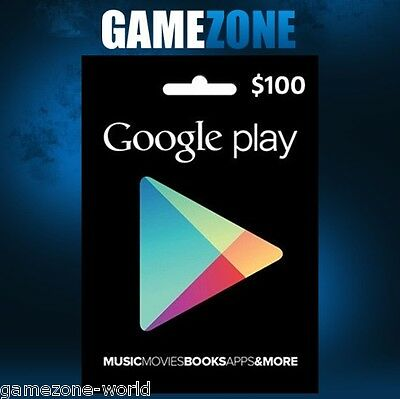 $100 Google PLAY Store USA Gift Card - 100 Dollar Google Play Android USD Code