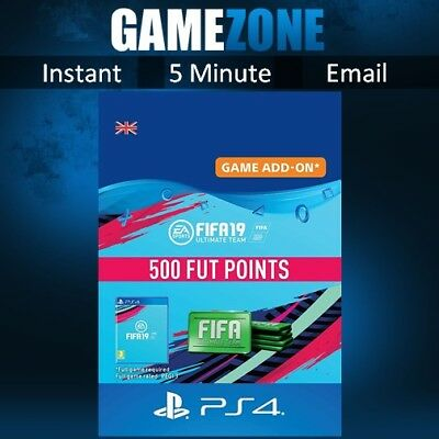 500 FIFA 19 Ultimate Team Points - PS4 - PlayStation - PSN Code - UK - 2019