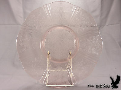 Antique Pink Depression Glass American Sweetheart Salver Cake Plate