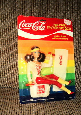 "Coca Cola Fully Jointed 11 1/2"" Aerobic Doll Nrfp!"