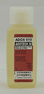 adox adotech III 100ml pour 4 adox CMS 20 film.