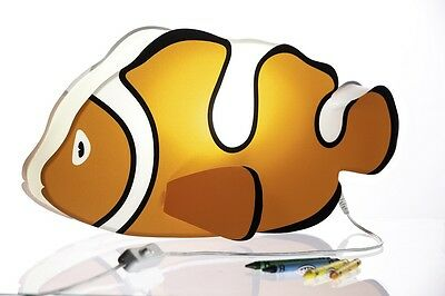 Nursery Lamp & Kid's Room Light - Colorful LED Decorative Lamp - Clownfish Nemo