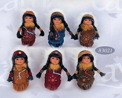 Imported Replica Indian Dolls - Size: 8 Inches Gift Boxed 6Pc Lot (ENPDoll7#)