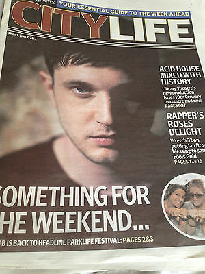 New UK PLAN B ben drew Manchester Evening News City Life Promo Cover Clippings