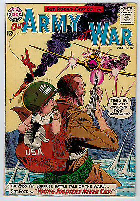 Our Army At War #132 4.0 Joe Kubert Cover And Art White Pages Silver Age