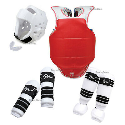 New Complete Taekwondo Sparring Gear set 7PC Deluxe Protector Karate Guard set