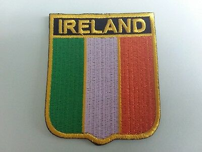 National Flag Country Shield Sew On / Iron On Embroidered Patch:- Ireland