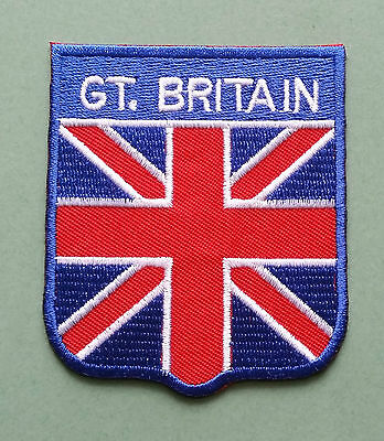 National Flag Country Shield Sew On / Iron On Embroidered Patch:- Great Britain