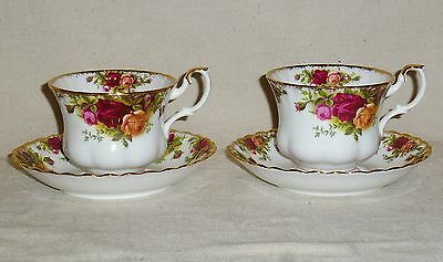 Royal Albert Old Country Roses Gold Trim Two Cups & Saucers