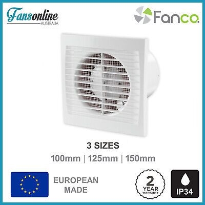 S Series Wall Exhaust Fan | Fansonline Ventilation - Bathroom Fan - 2YR warranty