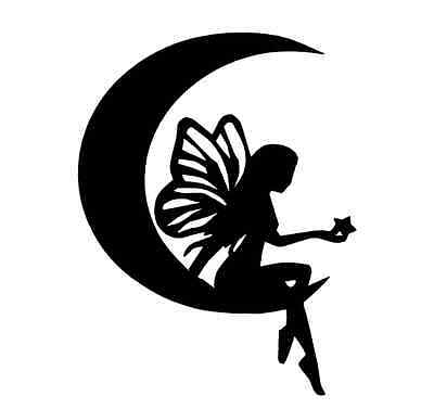 6-8 MOON FAIRY SILHOUETTE Die cut Embellishment Crafts, Cards