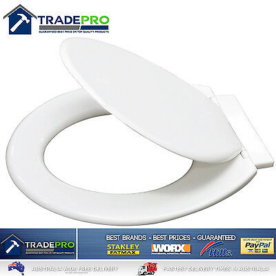 Toilet Seat & Cover Quality Braiform® Multi-Fit White with Concealed Hinges