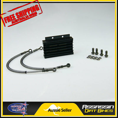 Black CNC oil cooler kit Radiator 140cc 150cc 160cc PIT PRO Trail Dirt Quad Bike