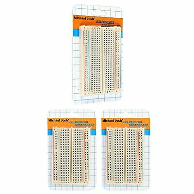 3PCS Mini Solderless Prototype self-adhensive Breadboard 400 Contacts