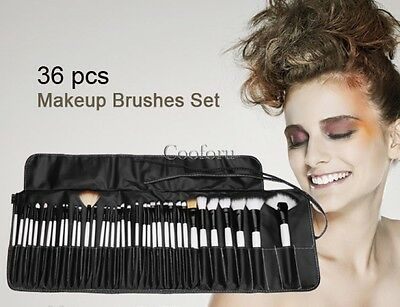 36 PCS Makeup Brush Set Kit Cosmetic Brushes Kit Tool + Black Pouch Bag Case