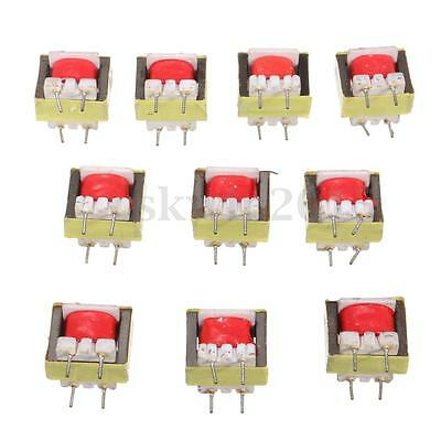 10Pcs Audio Transformer 1300 : 8 Ohm EE14 Transformateur Audio POS Transformador