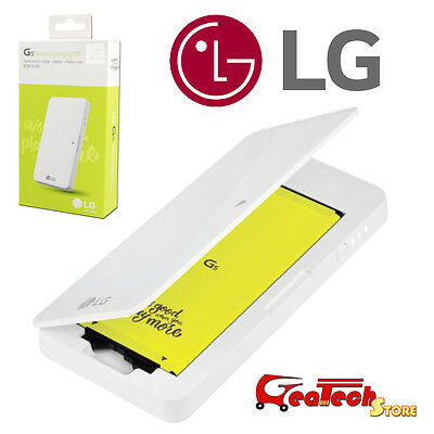 Battery Charging Kit ORIGINALE LG Per G5 H850 Dock + Batteria 2800mah Bianco