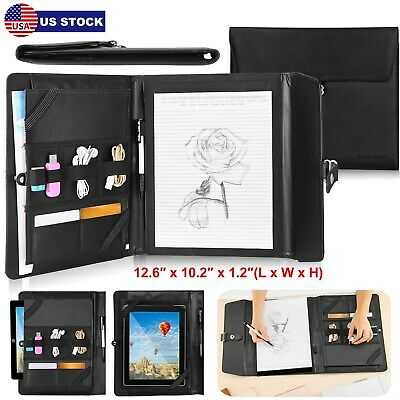 New Business Notepad&Tablet Portfolio Carry Case with Handles For 9.7''Tablet PC
